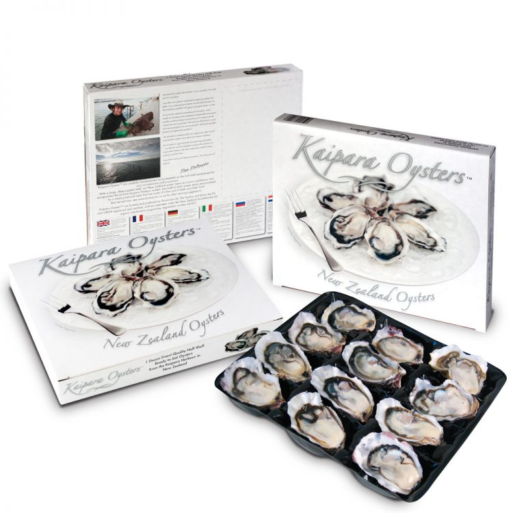 Kaipara Oysters retail pack of frozen oysters